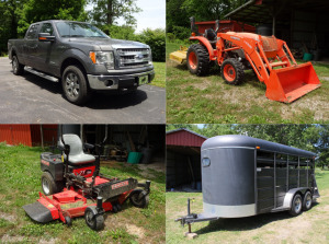 FORD F150 - TRACTOR - ZTR MOWER - STOCK TRAILER - LOWBOY - MACHINERY - MODEL A - BACKHOE -TOOLS - HOME GOODS - Online Bidding Ends Tuesday, July 14 @ 5:00 PM EDT