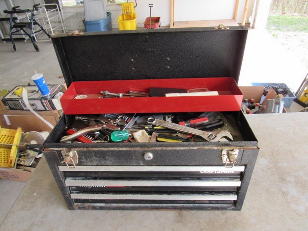 Craftsman 3-drawer rally box and miscellaneous tool set