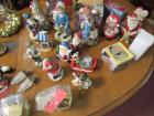 Christmas ornaments, figurines, salt and pepper shakers and miscellaneous