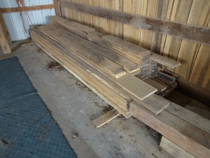 8 ft. and 10 ft. rough lumber