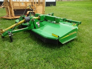 John Deere HX10 heavy duty 10' rotary mower, SN 200991, one owner, very good condition.