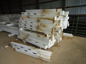 Approximately 4,000 feet of used white vinyl fencing with approximately 180 seven-foot posts.