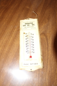 Irvington Gas Co. thermometer