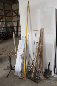 Rakes, Sledge Hammer, Fish Net, Fluorescent Lights, and Misc.