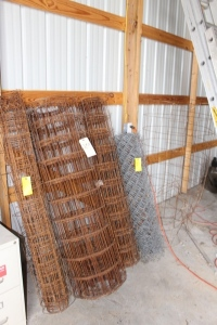 3 Rolls of  Metal Wire Mesh Fence, and 1 roll of Chain Link Fence