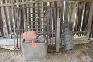 Automatic Water Trough (condition unknown), Woven Wire (not a full roll), Part of Rack