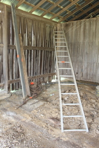 15 ft. Ladder, Angle Iron, Sliding Door Rails, Cable, Misc.
