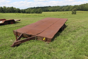 17 1/2 Ft. Pin Hitch Flatbed Trailer