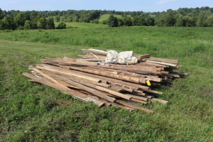 Pile of Used Lumber