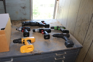 Misc. Battery powered drills,  MasterCraft recriprocating saw