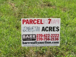 Parcel 7: 24.571 acres, open and wooded land with frontage on Aubrey Lane. ALL LOTS WILL REMAIN OPEN FOR BIDS UNTIL BIDDING ON EACH LOT HAS ENDED.