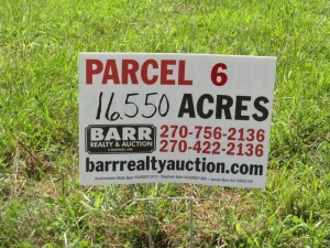 Parcel 6: 16.550 acres, open and wooded land with frontage on Aubrey Lane. ALL LOTS WILL REMAIN OPEN FOR BIDS UNTIL BIDDING ON EACH LOT HAS ENDED.