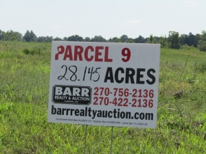 Parcel 9: 28.145 acres, mostly open land w/ scattered trees, 2 ponds, partially fenced and fronts Aubrey Lane. ALL LOTS WILL REMAIN OPEN FOR BIDS UNTIL BIDDING ON EACH LOT HAS ENDED.