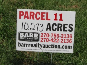 Parcel 11: 10.273 acres, open and wooded land with frontage on Aubrey Lane. ALL LOTS WILL REMAIN OPEN FOR BIDS UNTIL BIDDING ON EACH LOT HAS ENDED.