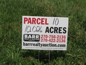 Parcel 10: 10.026 acres, open and wooded land with frontage on Aubrey Lane. ALL LOTS WILL REMAIN OPEN FOR BIDS UNTIL BIDDING ON EACH LOT HAS ENDED.