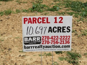Parcel 12: 10.697 acres, open and wooded, partially fenced, spring, pond and frontage on Smiley Basham and Aubrey Lanes. ALL LOTS WILL REMAIN OPEN FOR BIDS UNTIL BIDDING ON EACH LOT HAS ENDED.