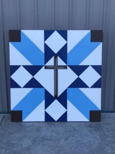 4 ft. x 4 ft. Barn Quilt Block donated by the Beavin & Wathan Families