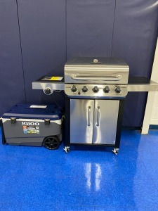 8th Grade - Mr. Cox's Class: Gas Grill and Wheeled Cooler donated by Frankie's Hardware