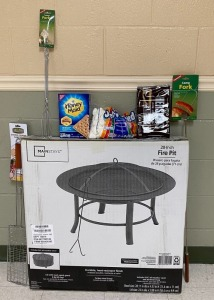 6th Grade - Mrs. Critchelow's Class: Round Fire Pit, Smores kit, Burger Maker, Toaster Forks