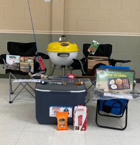 6th Grade - Mrs. Critchelow's Class: Yellow Grill, Cooler, Fishing Pole, Griddle, 2 Bag Chairs, Lantern, Repel Insect Replant , Toaster Forks, $25.00 Ace Hardware Gift Card, Flash Light, Miscellaneous Accessories