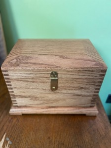 Homemade Wooden Jewelry Box Donated by Wesley Prather
