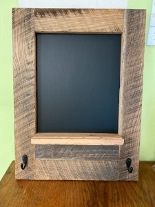 Wooden Chalkboard Shelf Donated by Wesley Prather