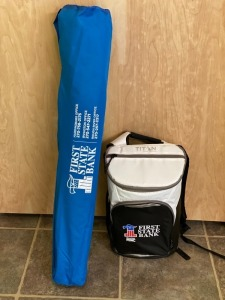 Bag Chair and Cooler Donated by First State Bank