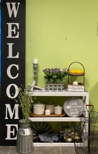 1st Grade - Mrs. Board's class: Large Welcome Sign, White Table, Candlestick, White Cross, Tray w/ Lemons, Serve the Lord Sign, 3 Piece Canister Set, Candles, Flowers, Jars, $25 Home Depot Gift Card
