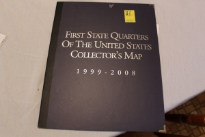 First State Quarters collector's map 1999-2008