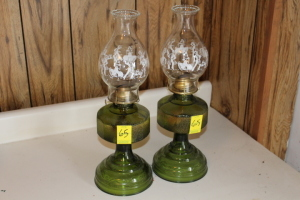 2 Dorset oil lamps