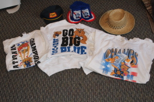 3 Kentucky Basketball shorts, Fischer's hat, PBR hat