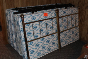 2 twin beds, head boards, and frames