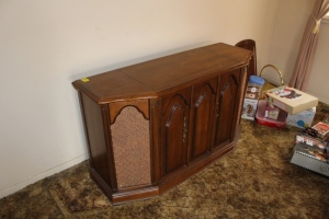 Console with record player and radio
