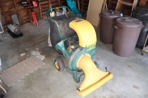 Yard-Man 5.5 HP self propelled Triple Care system: chipper, shredder, vacuum