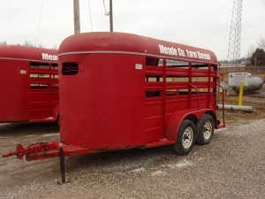 12ft stock trailer, bumper hitch
