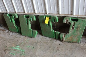 4 John Deere Suit Case Weights