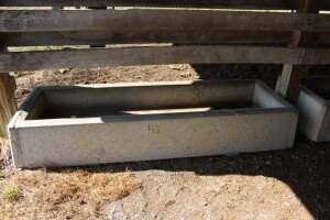 Concrete Feeder Trough - 7 ft. long 11 in. wide x 31 in. - 16 in. tall
