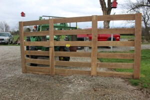 12 ft. Heavy Wooden Gate made of Oak Lumber