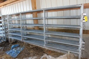 5 - 12 ft. Galvanized Corral Panels