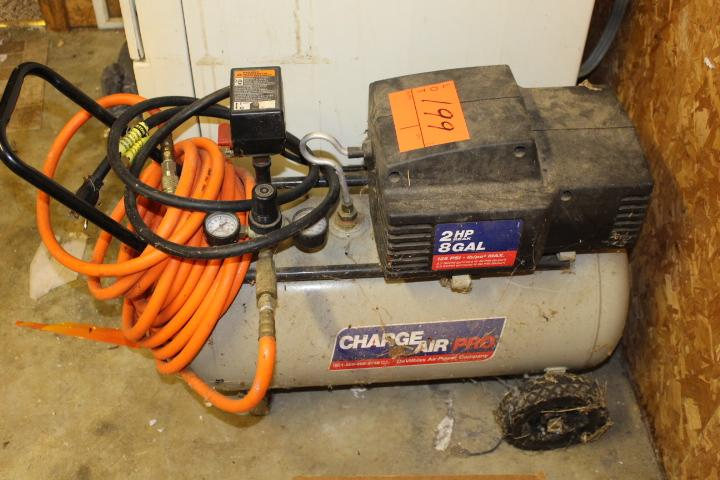 charge air pro air compressor 2hp 8 gallon current price 45