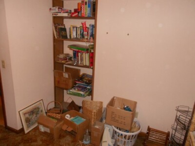 Contents of Room; Shelf, Books, Puzzles, Games, Misc.