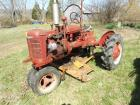 "Farmall B tractor with 60"" belly mower; tricycle front"