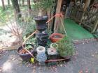 Concrete flower pots & stands