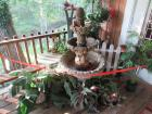 Concrete bird bath and miscellaneous